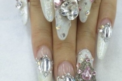 Snowy white nail art