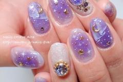 Constellations nail art