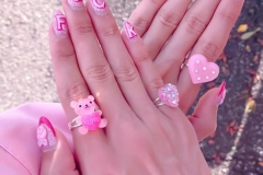 Barbie inspired nail art