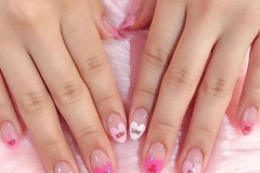 Love heart nails