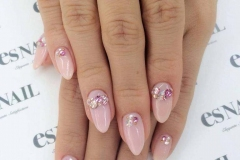 Cute and simple gyaru nails