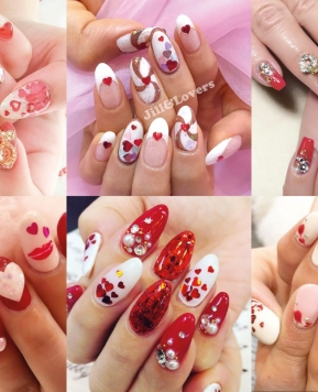 Gyaru Nail Art Inspiration for Valentine's Day