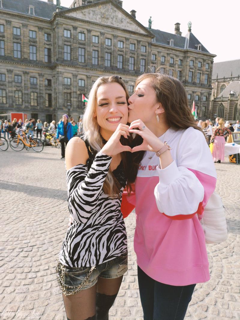 Meeting friends in Amsterdam