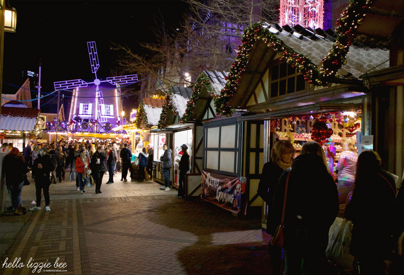 Christmas stalls at the Nottingham Christmas Market