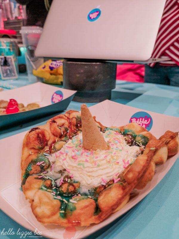Unicorn bubble waffle