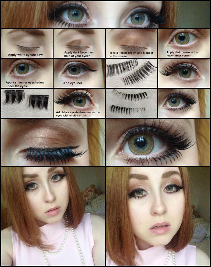 Onee gyaru makeup tutorial for Westerners by EmixLea via Hello Lizzie Bee