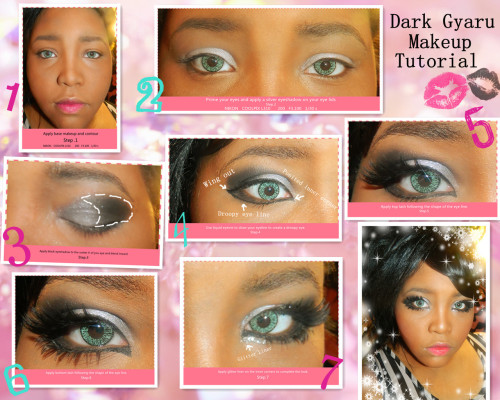 dark gyaru makeup